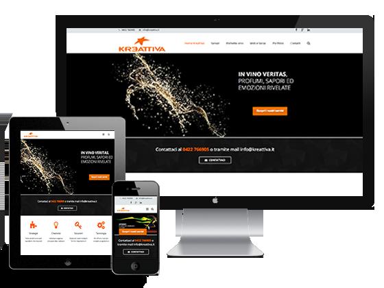 sito kreattiva, responsive