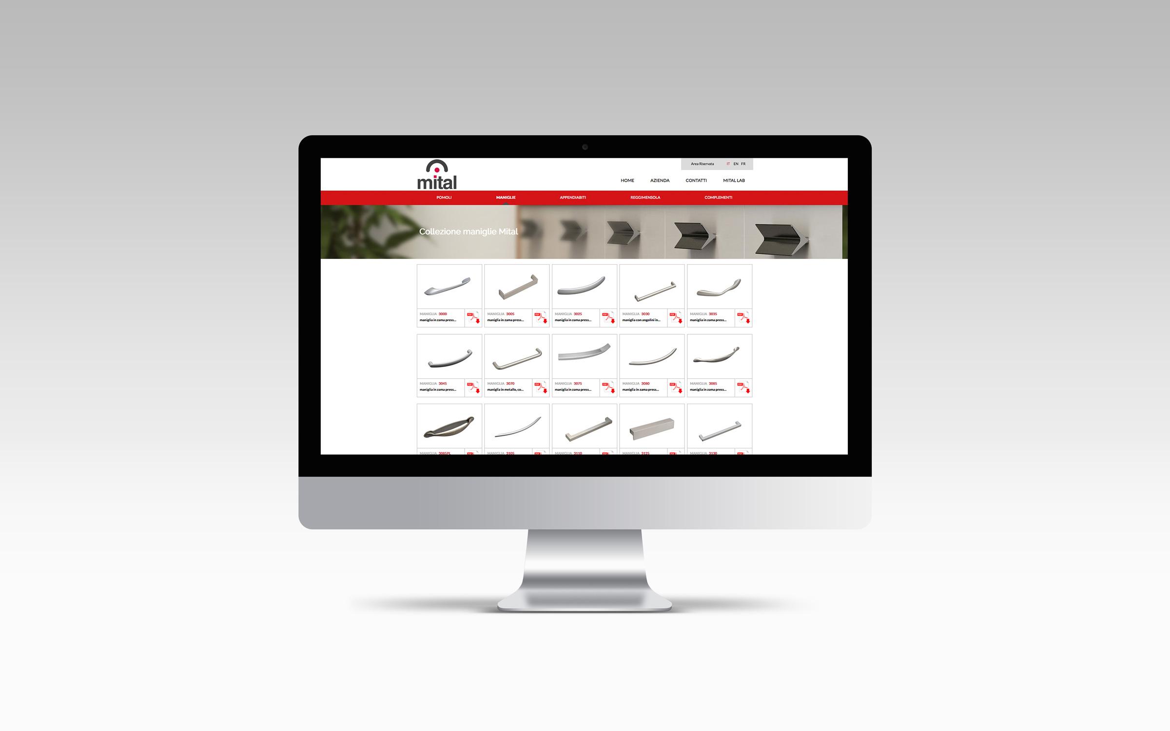 Pagina prodotti sito Mital