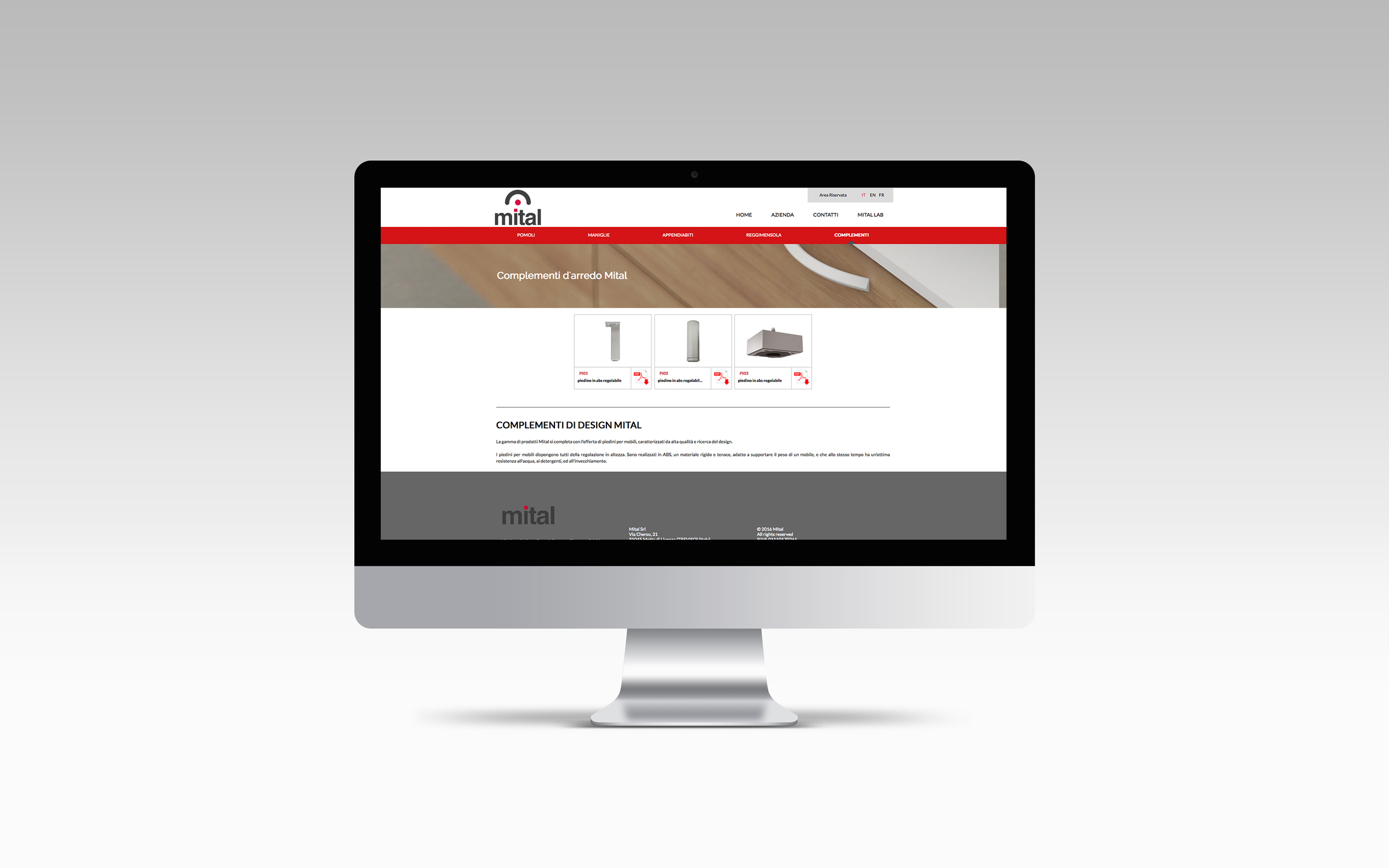 Pagina dettaglio sito Mital